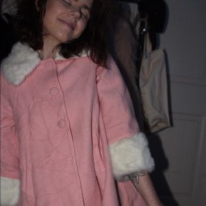 vintage light pink coat